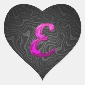 Pink Glittery Initial - E Sticker
