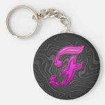 Pink Glittery Initial - F