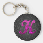 Pink Glittery Initial - K