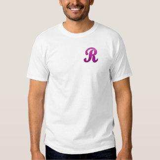 Pink Glittery Initial - R Tshirts