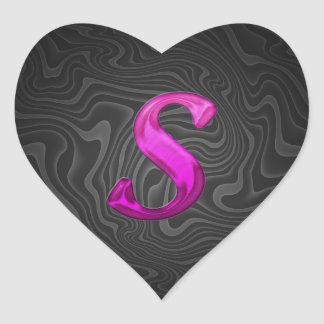 Pink Glittery Initial - S Stickers