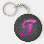 Pink Glittery Initial - T