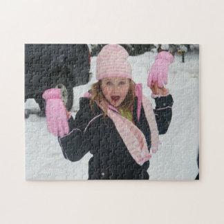 Pink-Glove Girl Jigsaw Jigsaw Puzzle