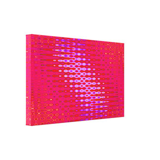 pink glow stretched canvas print