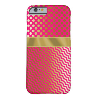 Pink/Gold Abstract IPhone 6 Case