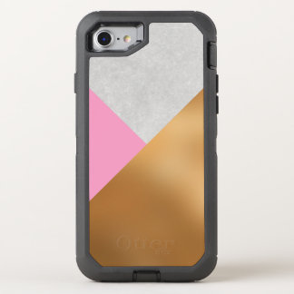 Pink, Gold and Marble Geometric Mobile OtterBox Defender iPhone 8/7 Case
