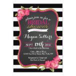 Pink Gold Black White Bridal Shower Invitation 13 Cm X 18 Cm Invitation Card