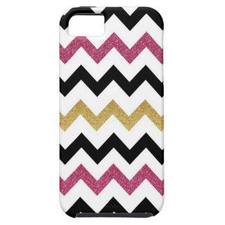 Pink & Gold Chevron iPhone Case
