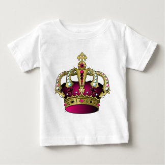 Pink & Gold Crown Baby T-Shirt