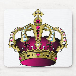 Pink & Gold Crown Mouse Pad