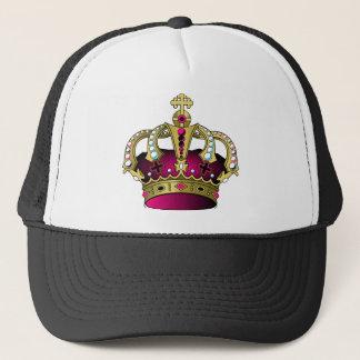 Pink & Gold Crown Trucker Hat