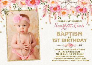 1st Birthday Invitations Zazzle Com Au