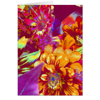 Pink Gold Flowers Blooming Bulb Designs Card