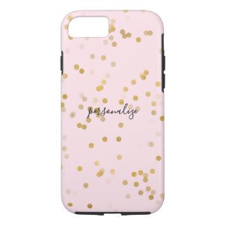 Pink Gold Girly Confetti iPhone 8/7 Case