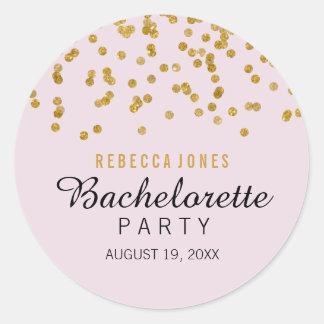 Pink Gold Glitter confetti Bachelorette Sticker
