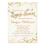 Pink & Gold Glitter Lingerie Shower Invitation