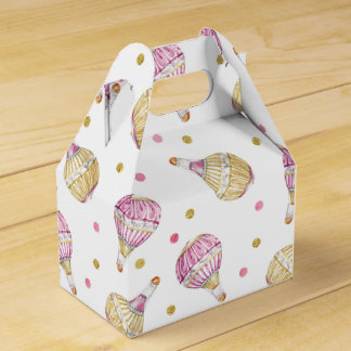 Pink+Gold Hot Air Balloon Favour Box