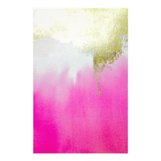 Pink Gold Ombre Customized Stationery