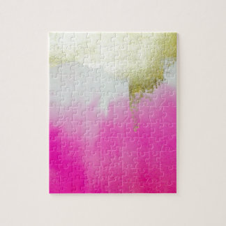 Pink Gold Ombre Jigsaw Puzzle