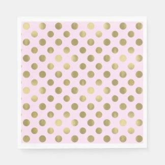 Pink Gold Polka Dot Birthday Party Disposable Napkin