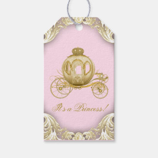 Pink Gold Princess Carriage Baby Shower
