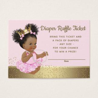 Pink Gold Princess Diaper Raffle Tickets