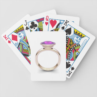 Pink gold ring bicycle playing cards