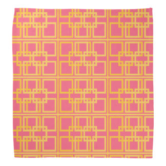 Pink Gold Royal Princess Pattern Design Bandana