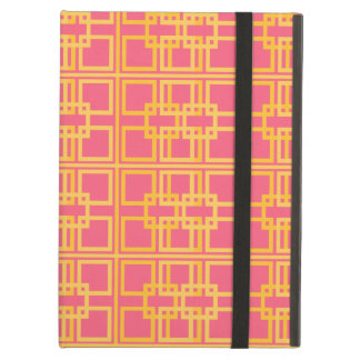 Pink Gold Royal Princess Pattern Design Case For iPad Air