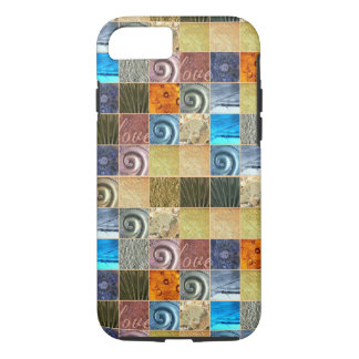 Pink Gold Silver Bronze Metal Love Mosaic iPhone 7 Case
