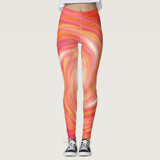 Pink & gold vortex leggings