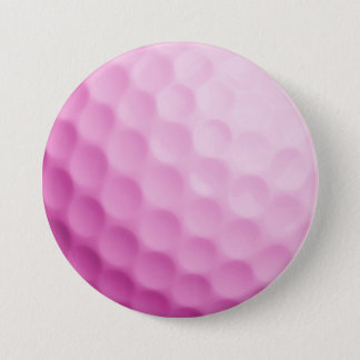 Pink Golf Ball Background Customized Template 7.5 Cm Round Badge