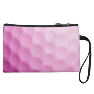 Pink Golf Ball Background Customized Template Wristlet
