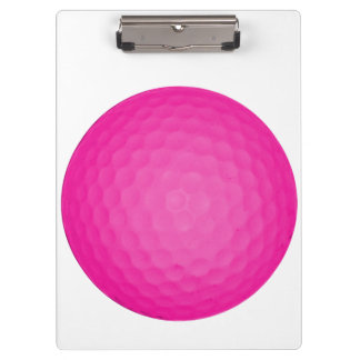 Pink Golf Ball Clipboards