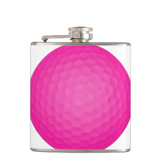 Pink Golf Ball Hip Flask