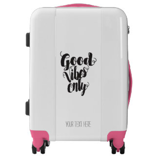 Pink Good Vibes Only Luggage