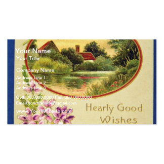 Pink Good Wishes, Davidson Bros., Pictorial Series Business Card Templates
