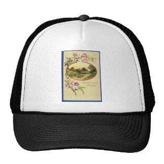 Pink Good Wishes, Davidson Bros., Pictorial Series Mesh Hats