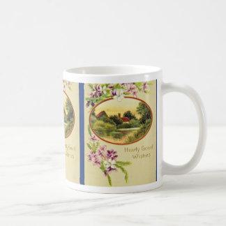 Pink Good Wishes, Davidson Bros., Pictorial Series Coffee Mug