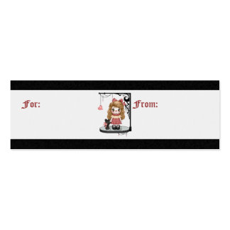 Pink Gothic Love Doll Pixel Art Pack Of Skinny Business Cards