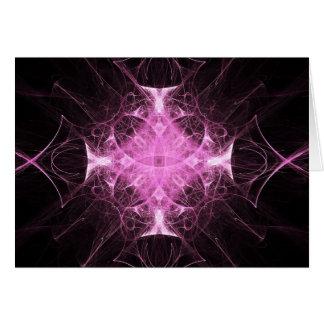 Pink Gothic Princess Fractal Greeting Card