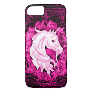 Pink Gothic Unicorn iPhone 7 Case