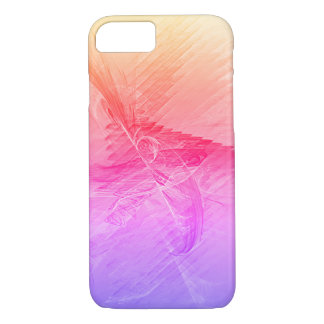 Pink Gradient Abstract Fractal iPhone 7 Case