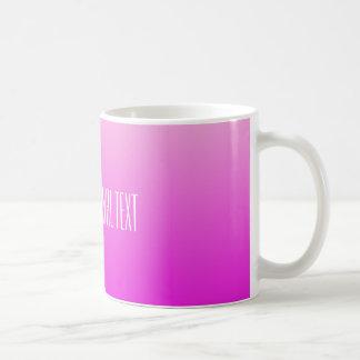 Pink Gradient custom text mugs
