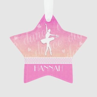 Pink Gradient Passionate Dancer with Hearts Ornament