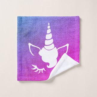 Pink Gradient Unicorn HandTowel Wash Cloth