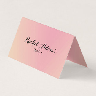 Pink Gradient Wedding Place  Card