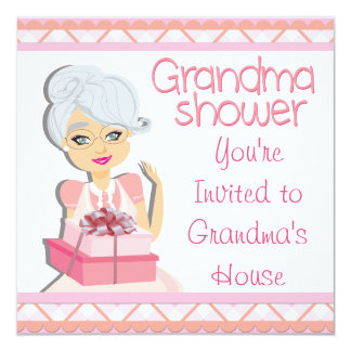 Pink Grandma Baby Shower Card