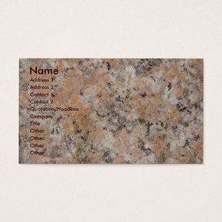 Pink Granite Business Card