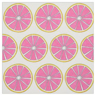 Pink Grapefruit Citrus Fruit Fabric